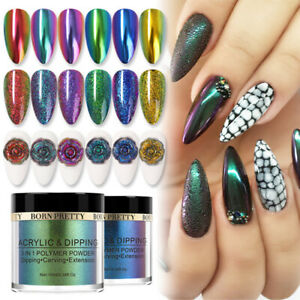 BORN PRETTY 10ml Chameleon Mirror Dipping Powder Carving Extension Nail Art Dip