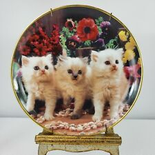 Franklin Mint Heirloom Felines and Flowers Cat Plate Ltd no. A1823