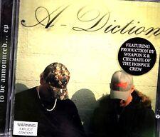 A-Diction - To Be Announced (Aussie Hip Hop EP Weapon X & Ciecmate production)