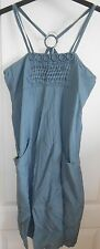 """Next Teal Sage Green Semi Fitted Cotton Mix Strappy Dress size 6 Length 30"""""""