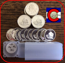 2005-S Silver Proof Kansas Quarters Roll (40 coins) -- from proof sets