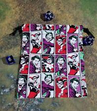 DC The Joker and Harley Quinn Squares Dice Bag, Card Bag, Makeup Bag