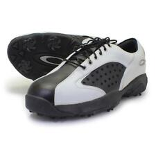 Oakley NECK TYE 2.0 Wide White Black 7.5W US Mens Golf Casual Leather Shoes