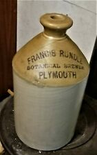 More details for antique pearson & co 1 gallon flagon francis rundle botanical brewer of plymouth