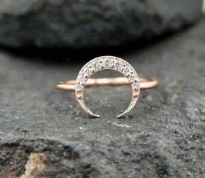Natural Diamond Crescent Style Wedding Ring 3 Grams Yellow Gold GGL CERTIFIED