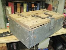 primitive antique wood wooden hinged lid tool box chest oriignal early 1900's