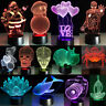3D Night Light Touch Table Desk LED Lamp 123 Style 7Colour Change Creative Gift
