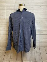 Banana Republic Mens Blue And White Striped Slim Fit Button Up Shirt Size - L