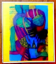 PEDRO CORONEL ORIGINAL MIX COLOR CRAYON INK ON THICK PAPER PAINTING