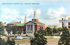 Vintage postcard: Horace Bushnell Mem. Hall, Hartford, CT, ca. 1948 (11416)