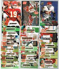 KANSAS CITY CHIEFS Team Set 29 cards 1994/95 topps stadium club Members