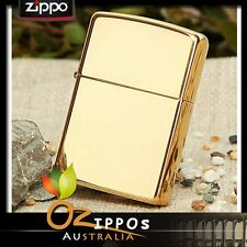 "Zippo Lighter ""High Polish Brass"" 254b --- Free Shipping in Australi"