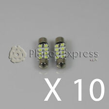 10 x Light bulbs 8 SMD LED C5W Festoon 36mm Registration, inside... White Xenon