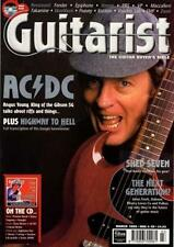 AC/DC Angus Young UK 'Guitarist' Interview Clipping TRANSPARENCY