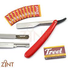 Professional Red Color Shavette Cut Throat Barber Salon Mens Grooming Razor New