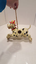 Firefighter Fire Department Dalmation Bird House Outdoors Indoor Decoration