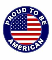 """Proud To Be American - America Flag Patriotic Decal / Window bumper sticker4"""""""