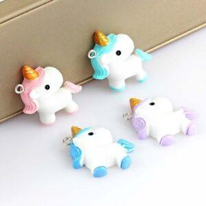 10pcs Pony Unicorn Resin Charm Pendant Cartoon Beads For DIY Earrings/Bracelet