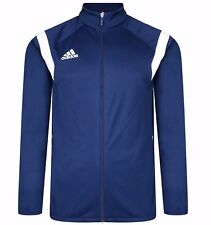 Men's New Adidas Football Soccer Track Jacket Tracksuit Top Sweater Coat - Blue