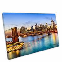 "Print on Canvas Brooklyn Bridge Manhattan New York city USA Wall Art 30x20"""