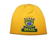 BRASIL 5 STARS , COUNTRY FLAG KIDS TOQUE HAT  .. NEW