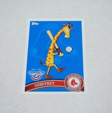 2011 Topps Opening Day Toys R Us Mascots #TRU-2 GEOFFREY THE GIRAFFE Red Sox