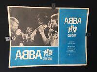 "ABBA ""EL GRAN SHOW "" Vintage Movie Authentic MEXICAN LOBBY CARD"