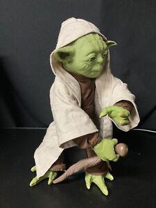 "Star Wars SpinMaster Legendary Jedi Master Yoda 16"" Interactive Talking"