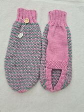 """7.5"""" Hand Knitted Minature Dachshund. Daxie. Doxie. Tiny Puppy Jumpers / Coats."""