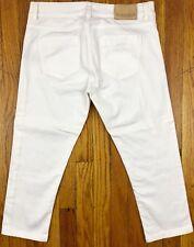 Zara Basic Denim Women's Capri Jeans Stretch Size 8 Actual W29.5 L21 White