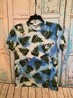 Hollister Holiday Christmas Tree Men's Graphic Short Sleeve T Shirt Size Large