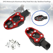 2xMotorcycle Pedal Non-slip Backfoot FootPegs Red Belt Spring 8MM Installation