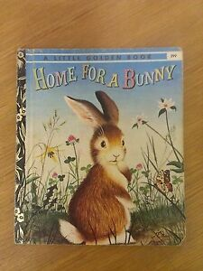 Home For A Bunny -1974 (Little Golden Book) H/C