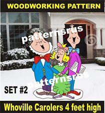 WHOVILLE carollers grinch WOODWORKING PATTERN, crafts SET 2 yard art patternsrus