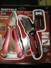 Sheffield 3Pc Precision Tool Set AND CASE