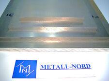 AW-7075 Aluminiumplatte 500x50x2mm ZUSCHNITT Hochfest AlZnMgCu1,5 Alu Blech