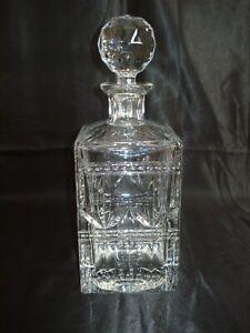 Antique Baccarat Crystal Estréchoux Decanter. Circa Late 19th Century. 8 LBS.
