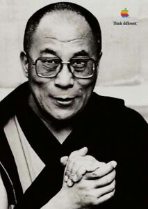 "APPLE Think different DALAI LAMA poster approx. 17""/12"" mint rolled shipping"