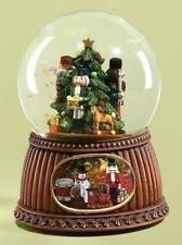 Nutcrackers Twelve Days of Christmas Musical Glass Glitterdome Snow Globe