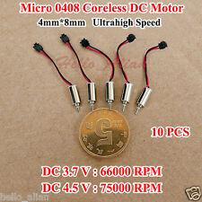 10PCS 4mm*8mm DC 3V 3.7V 66000RPM Ultrahigh High Speed Micro Mini Coreless Motor
