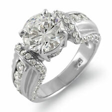 Round Cubic Zirconia Engagement Solitaire Wedding Ring Sterling 925 Silver Sz 7