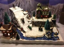 Christmas Village Display Platform Ski Slope Lemax Dept56