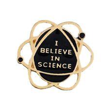 I Believe In Science Funny Enamel Pin Badge Nerd Geek Study Science Brooch 1PC
