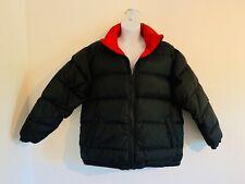 Women's 1X XXL Down Reversible Winter Jacket Red Black