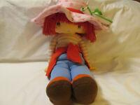 "Jumbo Strawberry Shortcake Plush Stuffed Rag Doll Large 29"" Tall Vintage HTF"