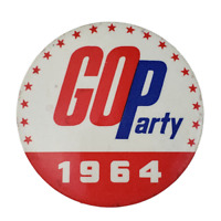 Vintage Go Party 1964 Political Campaign Pinback Pin Button