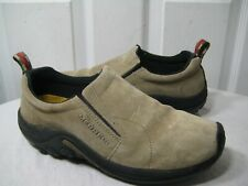 Merrell Jungle Moc Classic Taupe Slip On Loafers Casual Shoes Mens Size 42 / 8.5