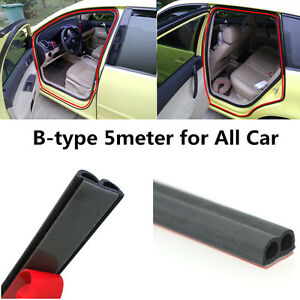 B type Moulding Weatherstrip Car Truck SUV Seal Strip Door Trunk Edge Trim 16ft