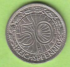 50 Reichspfennig 1930 F seltener Jahrgang hübsch nswleipzig