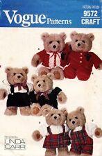 1980's VTG VOGUE Baby Bear Clothes Pattern 9572  UNCUT